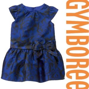 Gymboree Holiday Occasion Dress Royal Blue 2T 4T 5